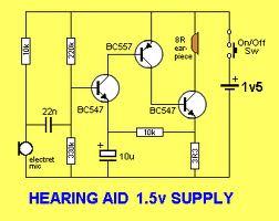 """Простейшие  """"усилители слуха """" собраны всего на 3-4 транзисторах."""