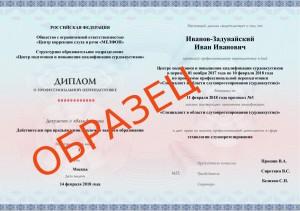 пример бланка диплома ПП-МЕЛФОН
